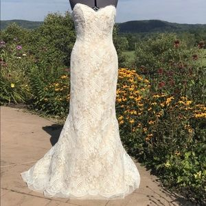 Chantilly Lace off white wedding/prom dress